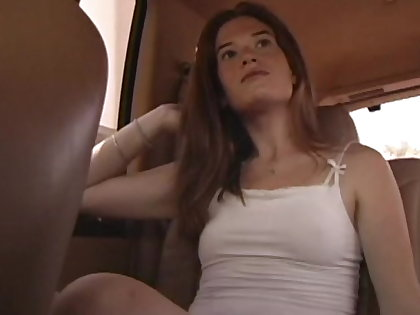 Small titty unprofessional hooker mckenzie blasted on her face