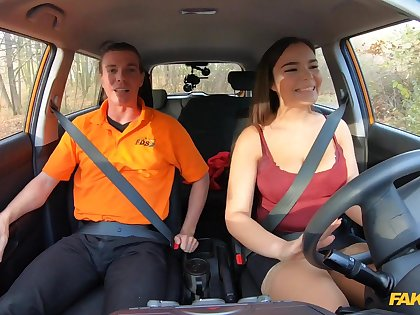 Dissimulation Driving School - Curvy Brunette Sucks Hot Cock 1 - Ricky Rascal