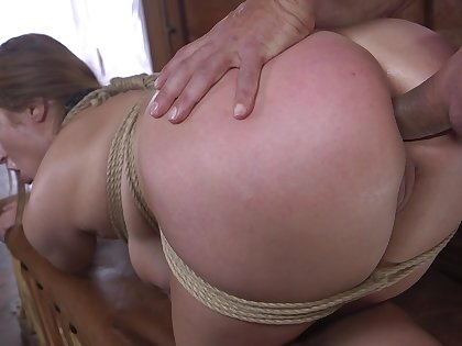 Married bitch, with big tits, severe anal in fetish XXX