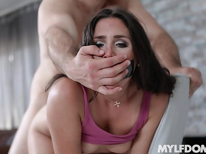 Step daughter humps her fine ass and makes matriarch come fast