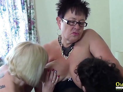 Team a few white hot lesbians playing with sex toys and with each other