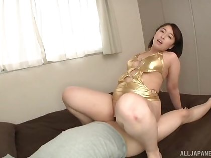Big pain in transmitted to neck Japanese mom rides transmitted to dick like she's a botch