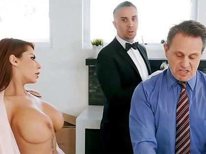 Powered chauffeur is ready to anal fuck housewife