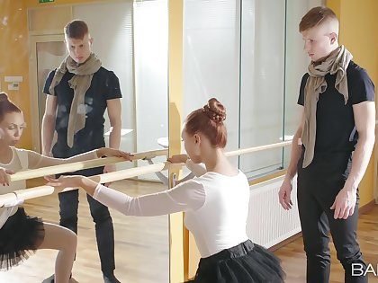 Sexy ballerina feels the tasty dong deeper than she excepted