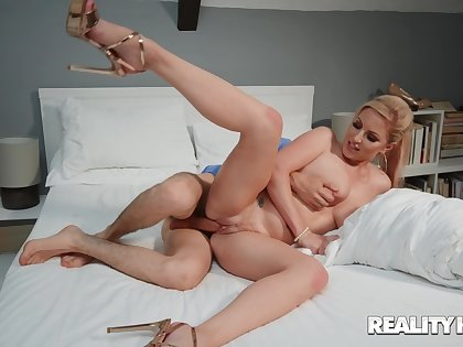 Massive cock for mommy during her sly webcam session