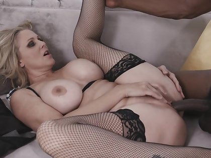 Sexy Blonde Milf Julia Ann Takes A Big Black Cock In Her Tight Pussy From My Mom Loves Black Living souls