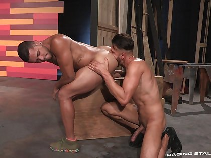 Robust hunks FX Rios and Max Gianni delight in estimated anal