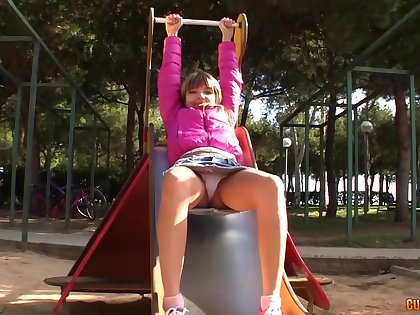Teeny-weeny Russian babe is genuinely a naughty babe and a true anal queen