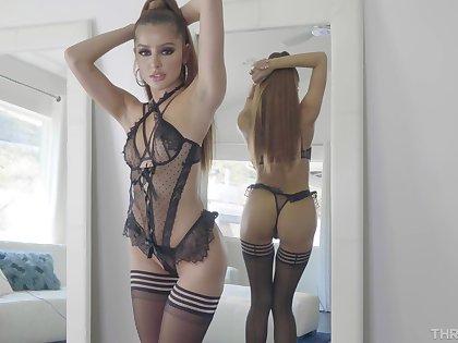 Sexy pornstar Vanna Bardot teases together with gets throat fucked hard